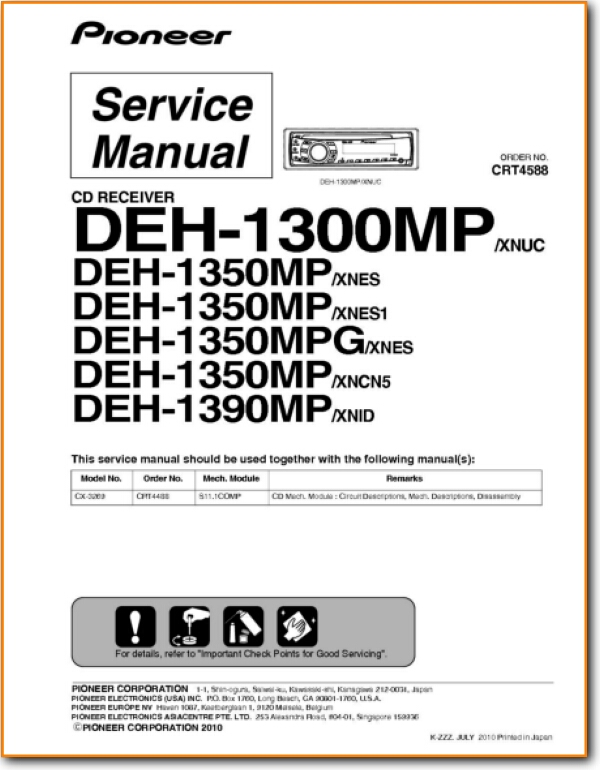 pioneer deh1300mp automotive audio  on demand pdf download  english
