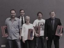 Vorstandsmitglied Jürgen Krieg (2. v. l.) mit den zu verabschiedenden Vorstands-/Ausschussmitgliedern: Markus Schrimpf, Birgit Hirt, Patrick Klotzbücher, Matthias Hopfenzitz