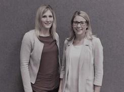 Neue gewählte Referentinnen für Öffentlichkeitsarbeit: Dorothee Schmid, Vera Stitz