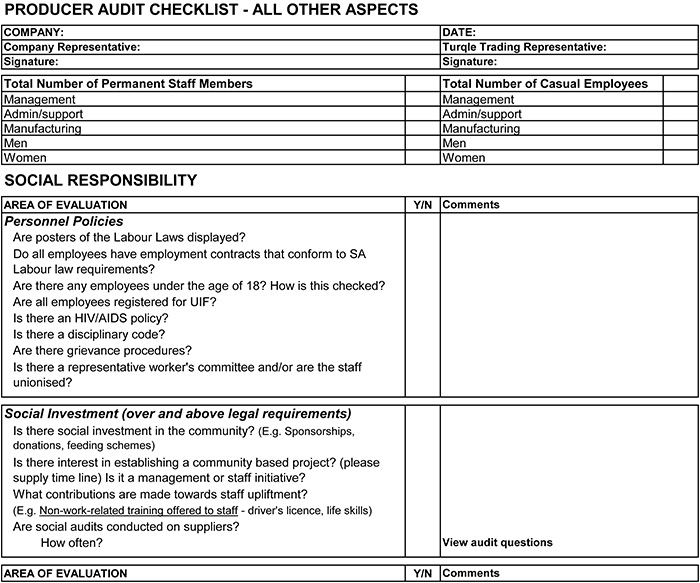 Supplier Audit Checklist Template iso audit checklist template – Audit Form Template