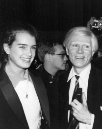Brooke Shields and Andy Warhol