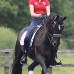 Diane helped train Rose Hugh Smith for several years, progressing her to a spot on the pony European team and a team bronze medal with her pony Wisch. Rose trained on some of our horses too, learning how to use a double bridle from a young age and how to adapt to a variety of horses.