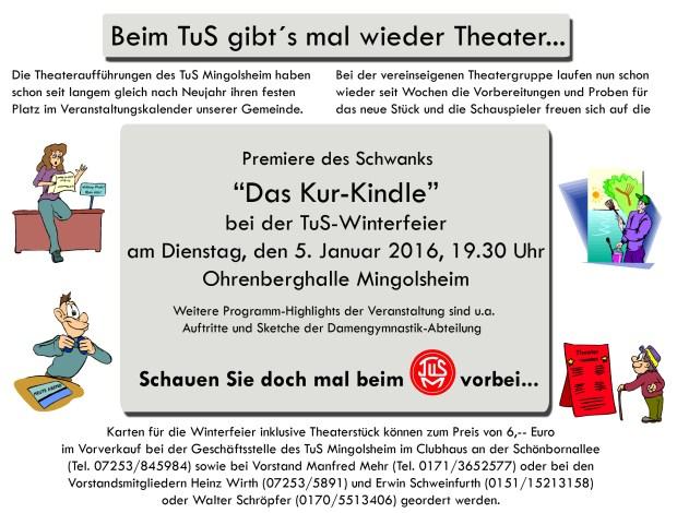 Beim TuS gibt´s wieder Theater...