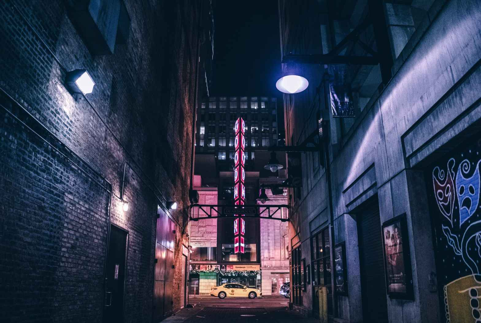 empty alley at night