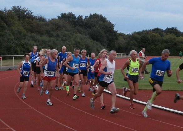 Der 3. Lauf: am Start Sandra (330) und Horst (388)