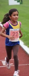 Zina Cakil (W /)  beim 800 m Lauf