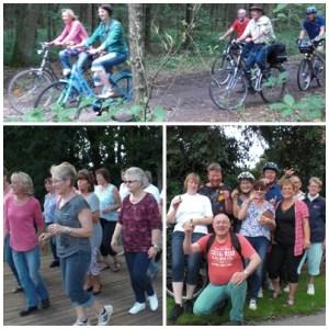 Collage Fahrradtour