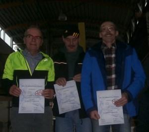 Landesmeister Mannschaft M60/65 : Eckhard, Detlef und Hans