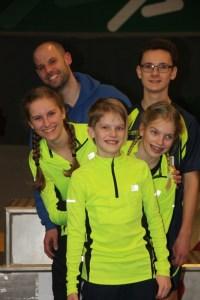 hinten: Björn und Marvin, vorn vrnl: Esther, Kaya, Marie