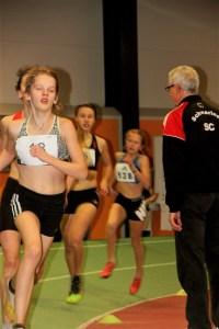 Kaya beim 800 m Lauf
