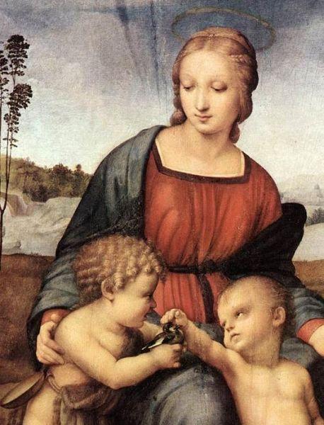 Modonna del Cardellino by Raffaello, Uffizi Gallery Florence