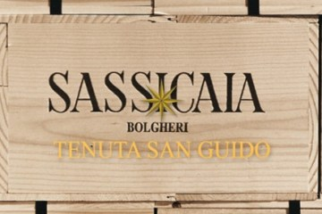 Scatola in legno di Sassicaia