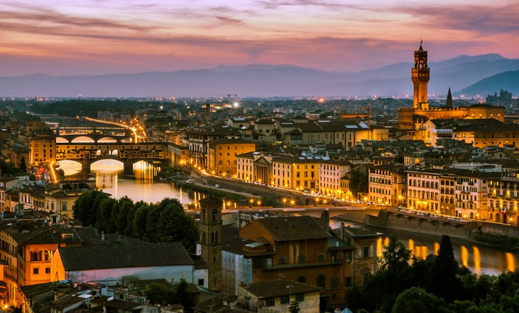 Firenze di Notte vista dal Piazzale Michelangelo
