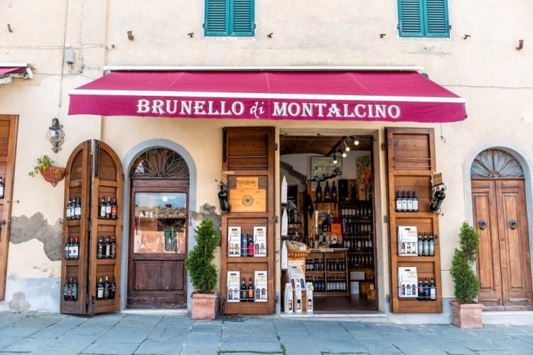 Wine shop a Montalcino