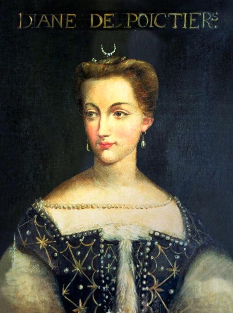 Diana di Poiters fu l'amante di Enrico Valois, Re di Francia, marito di Caterina dei Medici