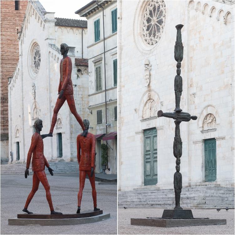 Lo scultore Roberto Barni questo Natale espone le sue opere in una mostra diffusa a Pietrasanta tra piazza Duomo e Sant'Agostino