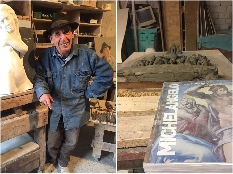 Renzo Maggi è uno scultore toscano cresciuto tra il blu del mare della Versilia e il bianco statuario delle Alpi Apuane.