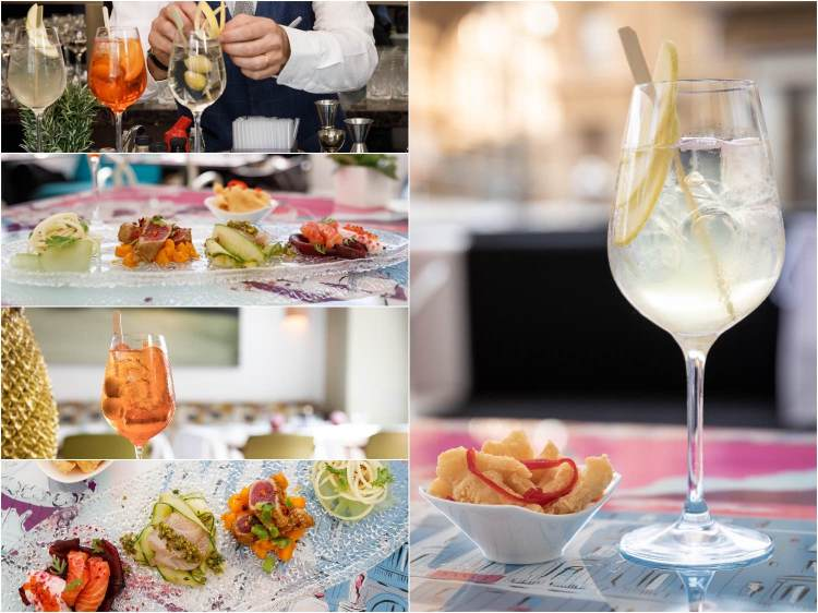 La domenica lo chef Fulvio Pierangelini controlla il meteo toscano dalla cucina del ristorante Irene dell'Hotel Savoy: Piovono Polpette