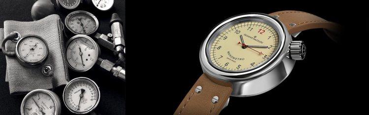 Il Manometro, da taschino o da polso, è un orologio iconico creato dal designer fiorentino Giuliano Mazzuoli: vere opere d'arte da passeggio