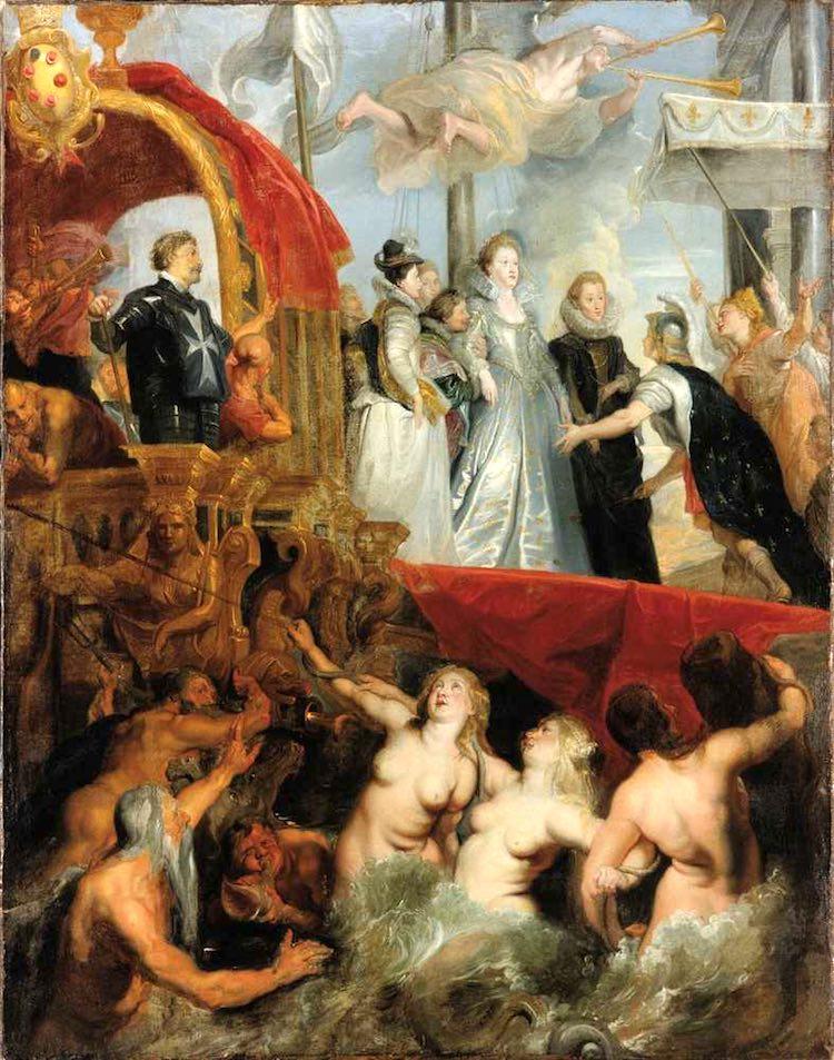L'arrivo a Marsiglia di Maria dei Medici ritratta da Rubens
