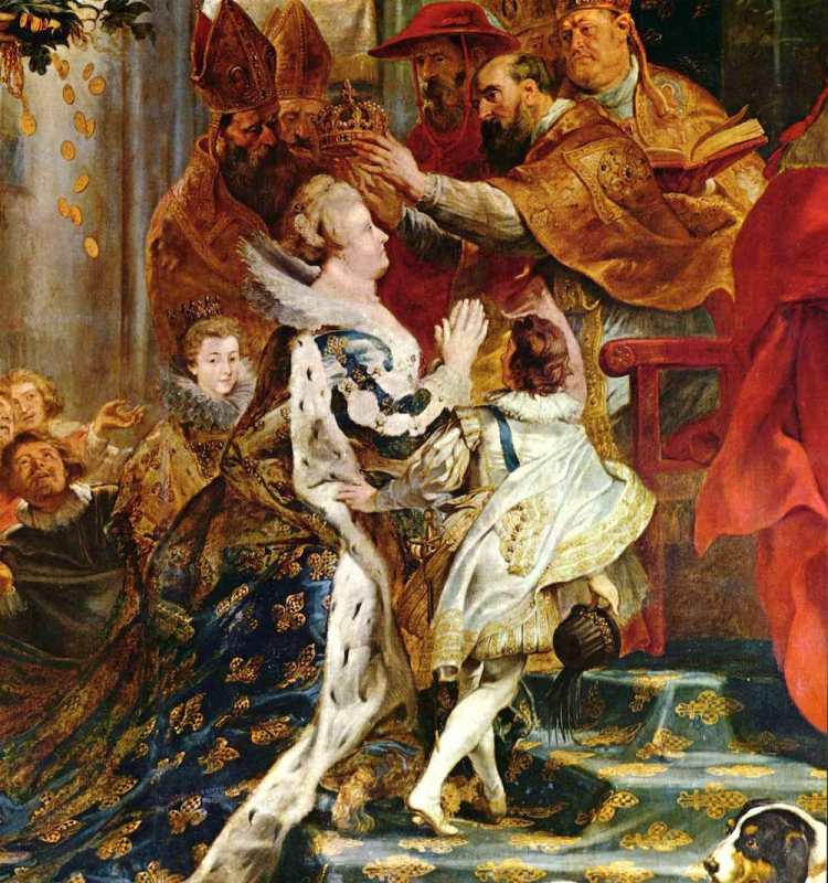 L'incoronazione di Maria dei Medici nell'Abbazia di Saint Danis ritratta da Paul Rbens