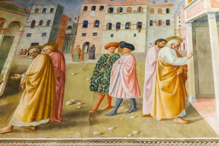 La Cappella Brancacci a Firenze dipinta da Masaccio e e Masolino è uno dei più begli esempi del Rinascimento fiorentino.