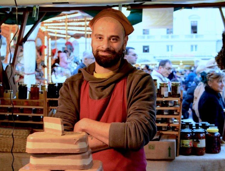 Stand gastronomico a Enogastronomica 2018, Firenze, Fortezza da Basso
