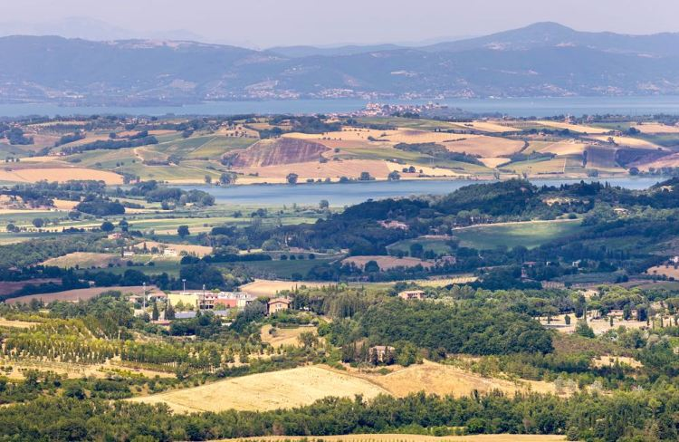 Il Lago di Chiusi e il Lago Trasimeno si trovano sul confine tra la Toscana e l'Umbria.