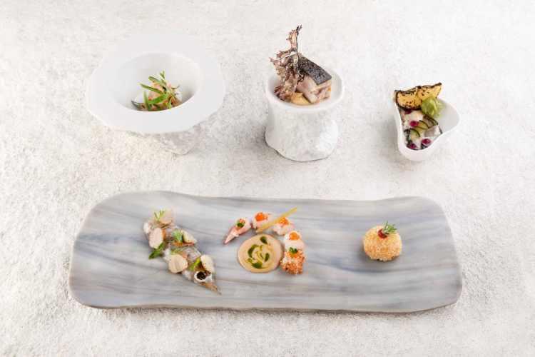 Assaggi di crudo di mare dello chef Luca Landi del ristorante Lunasia
