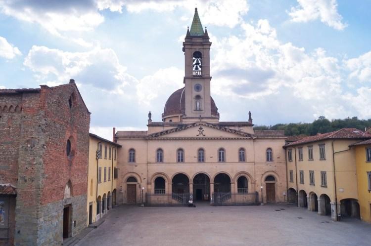 Piazza Masaccio a San Giovanni Valdarno, città natale del pittore toscano