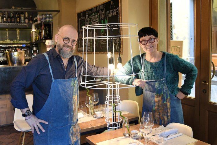 Simone e Francesca, i proprietari dei uno dei migliori ristoranti a Pistoia