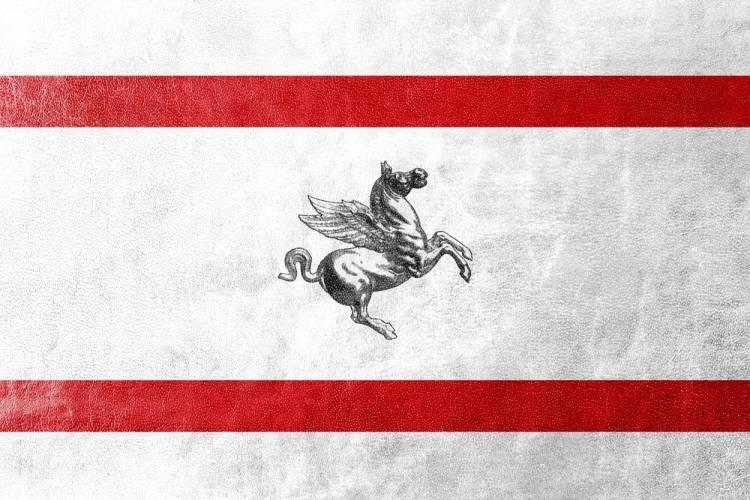 La bandiera ufficiale della Regione Toscana