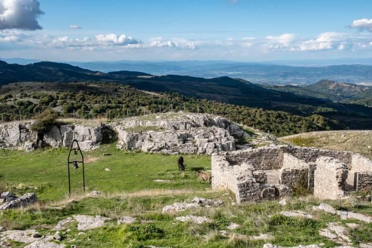 Panorama sul Monte Labbro in Maremma toscana