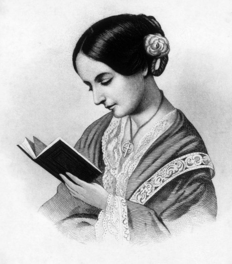 Florence Nighitngale ritratto in bianco e nero