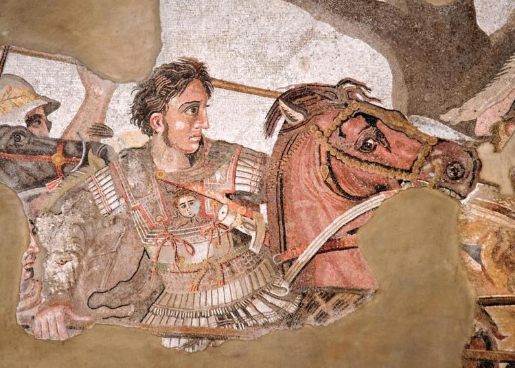 Mosaico romano raffigurante Alessandro Magno