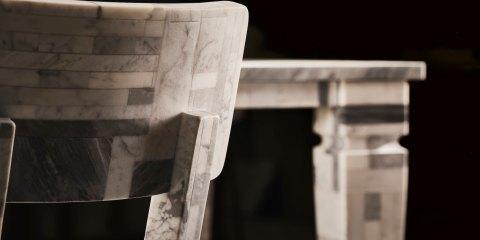 Oggetti di design in marmo realizzato con Stonethica