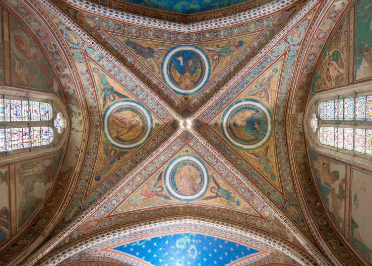 Affreschi nella Basilica Superiore di Assisi realizzati da Cimbue