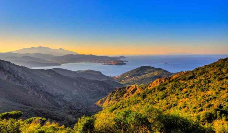 Portoferraio visto dal Monte Capanne sull'Isola d'Elba