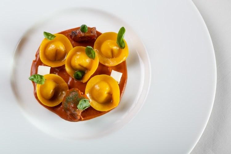 Primo piatto del ristorante 1 stella Michelin Santa Elisabetta a Firenze
