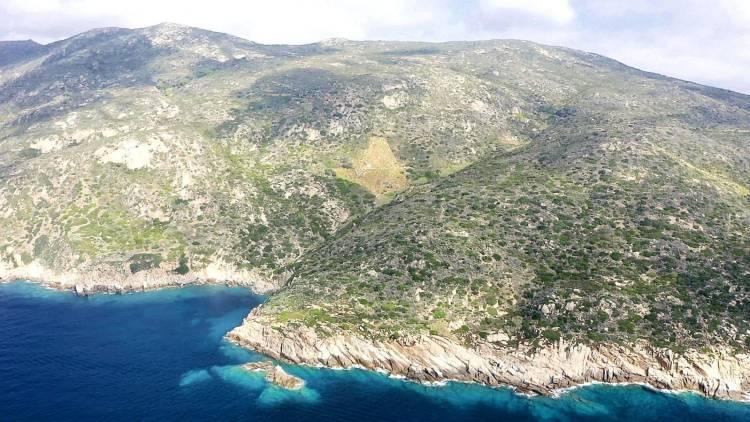Veduta aerea dell'isola del Giglio