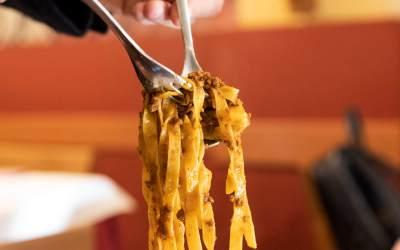 Pappardelle al ragù dell'Osteria Bonanni a Montelupo Fiorentino