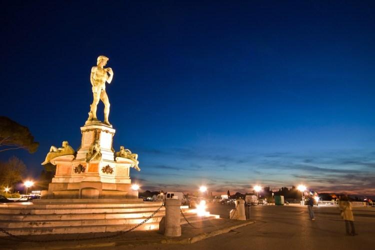La copia del David al Piazzale Michelangelo - Firenze