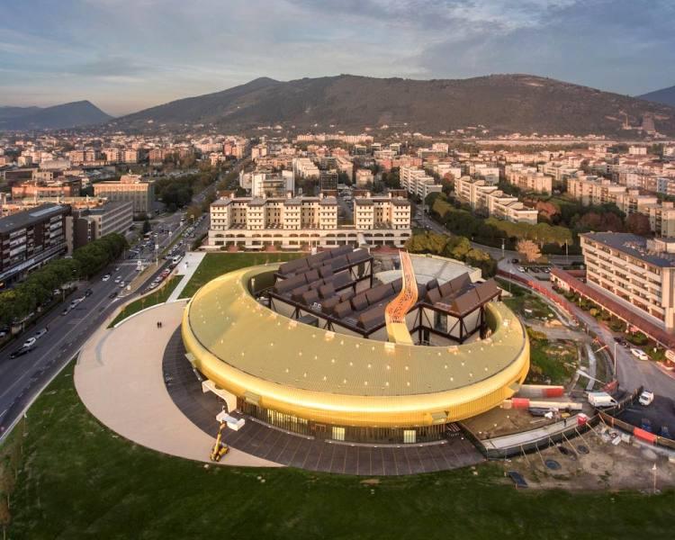 Veduta aerea del Centro per l'Arte Contemporanea Luigi Pecci di Prato