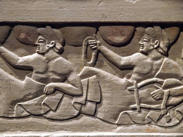 Sarcofago etrusco del V secolo A.C. conservato nel Museo di Chiusi