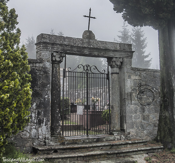 Castelvecchio Cemetery Gate outside