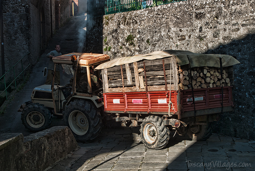 Tractor with wood 2