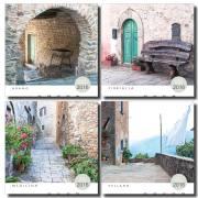 Tuscany Calendar 2016 Village images of Aramo, Fibbialla, Medicina, Vellano