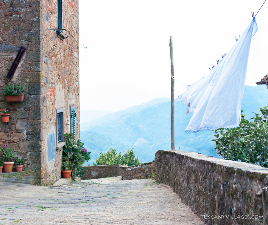 Laundry in Vellano, Pescia, in Tuscany, Italy