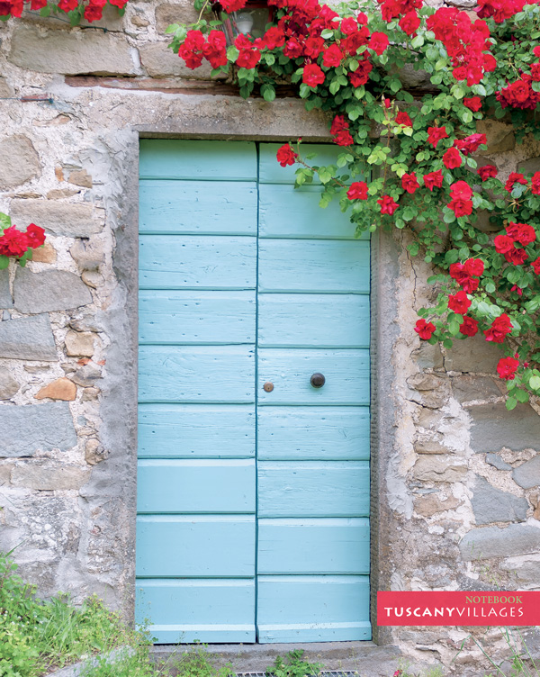 Front Book Cover \u2013 Tuscan Door and Flowers & Tuscany Notebook and Journal - Tuscan Door and Flowers