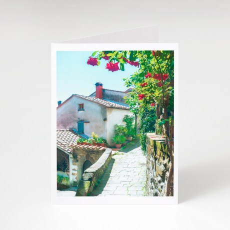 Rose Scented Pathway Greeting Card